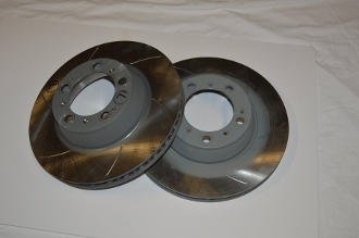 Porsche 996 GT3 Cup Rear Brake Rotors Slotted