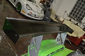 "Porsche GT3 Cup Clear Carbon Fiber Wing 67"" wide - Used"